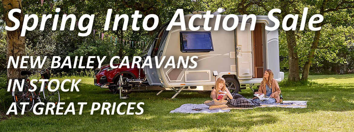 Penrose Touring - Spring Into Action Caravan sale banner