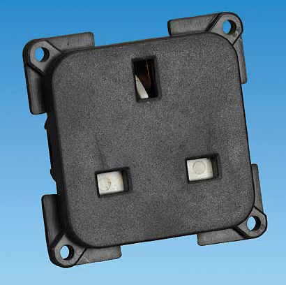 13 Amp Socket Black