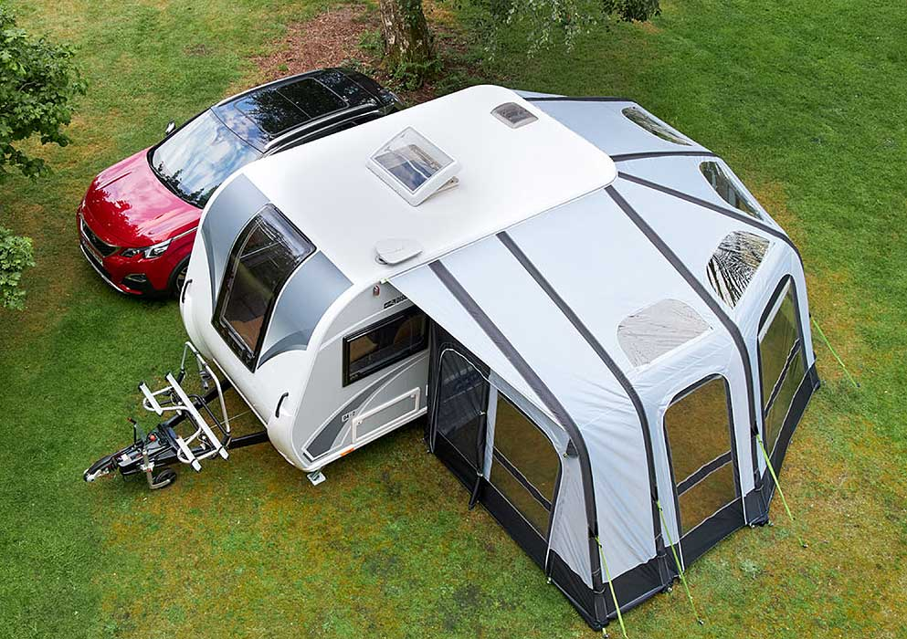 Bailey Discovery - View from above of awning fitted