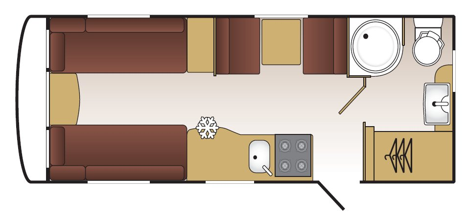 Coachman Vision 520/4 - Layout