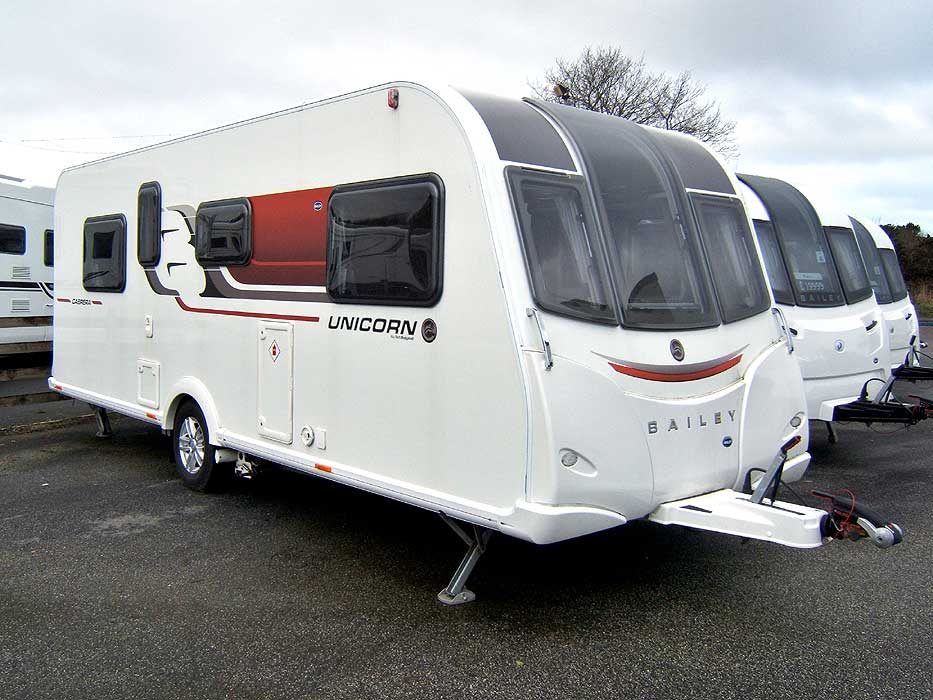 An view of the side and rear of the Elddis Crusader Super Cyclone