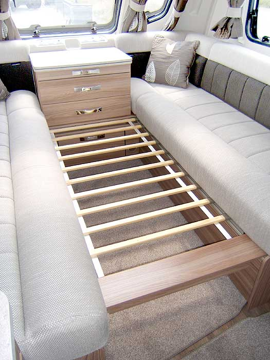 Image showing the amount of storage space under the front lounge seats.