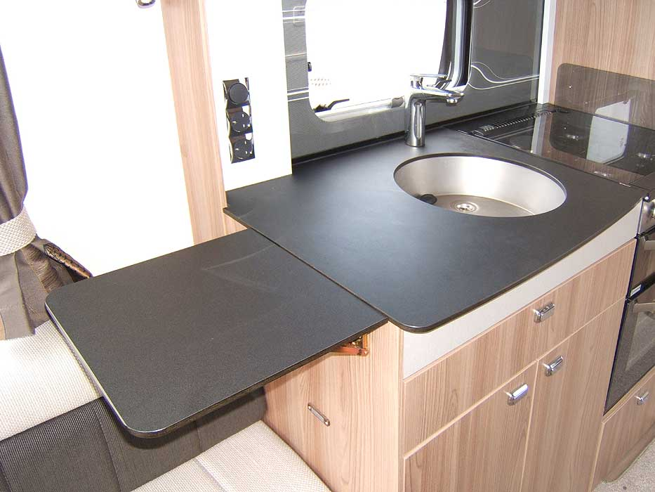Close-up view of the top drawer with cutlery tray.