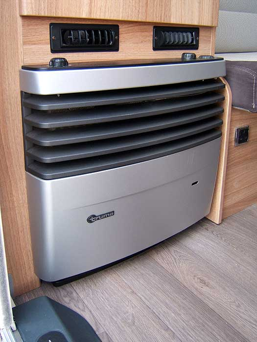 The space heater - on your left as you enter the caravan.
