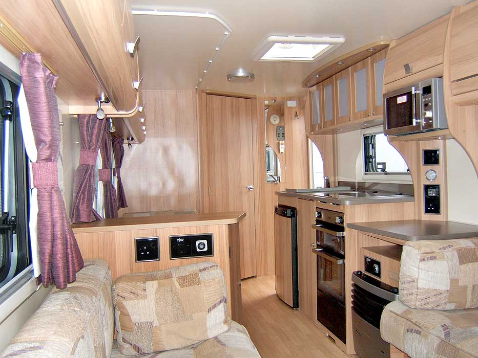 A another general view looking through the caravan from the front lounge area - showing the opposite side.