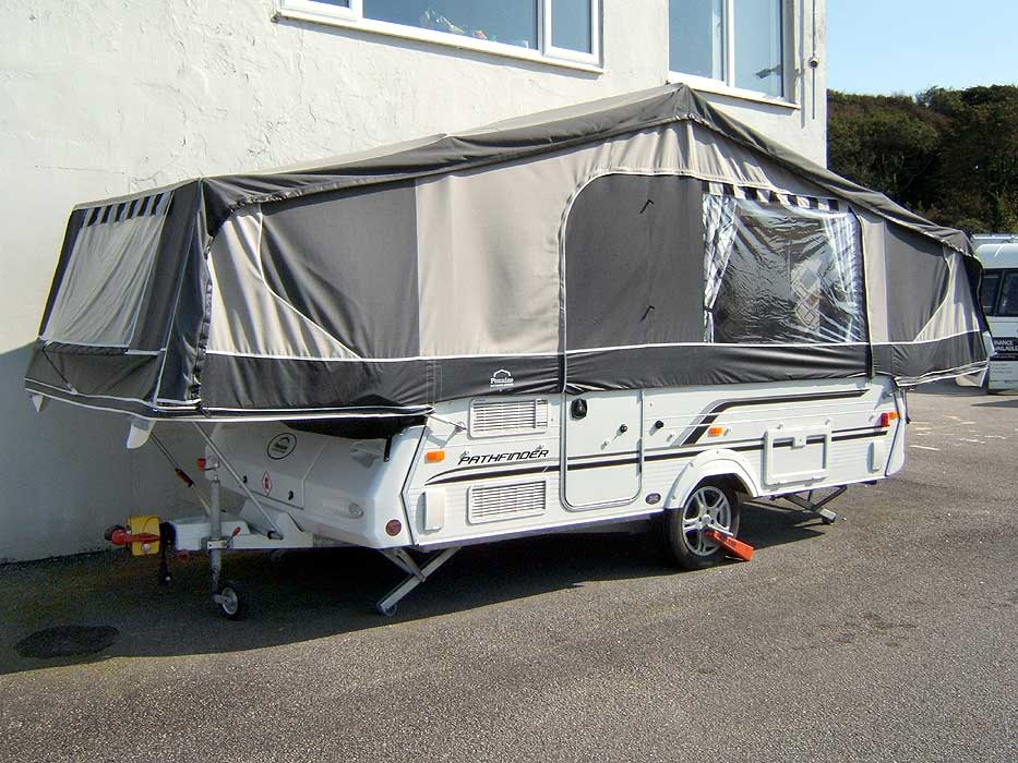 Alternative external view of the Pathfinder Folding Camper.