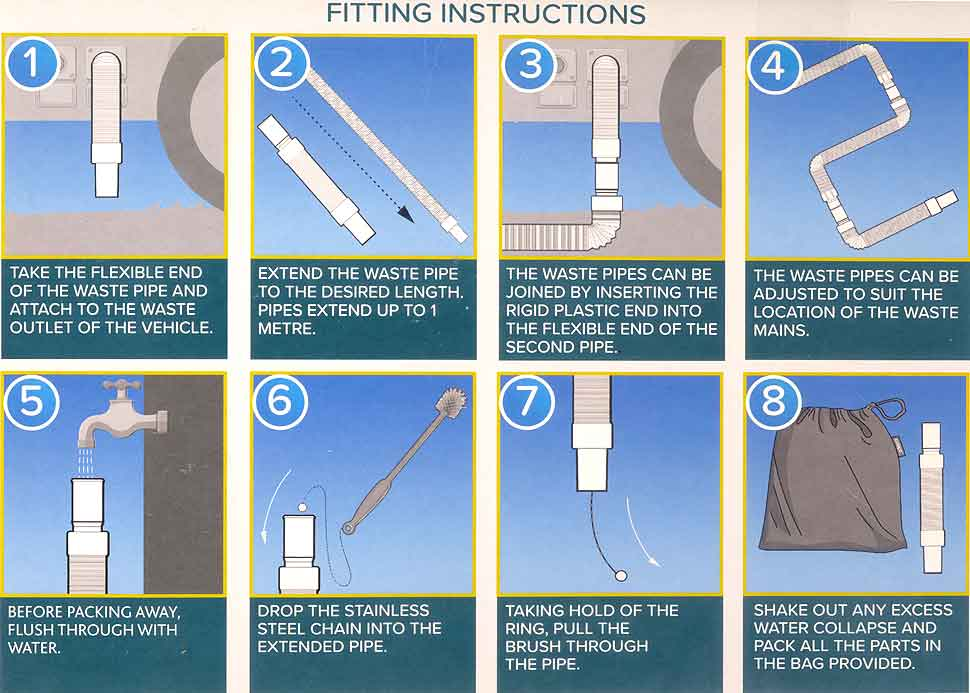 Colapz Flexi Waste Pipe Kit Fitting Instructions