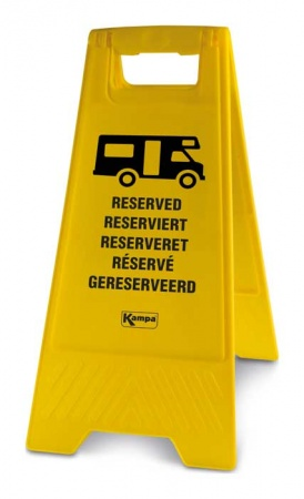 Kampa Reserved Sign