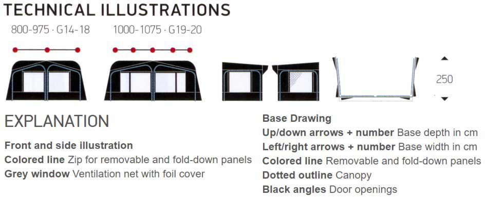 Ventura D250 Technical Illustrations