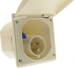 Flush-Fit Mains Inlet  Square White